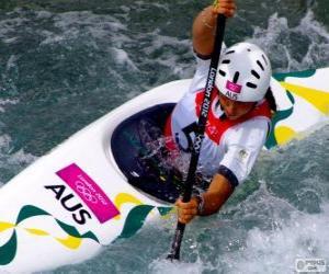 Puzle Ve vodním slalomu