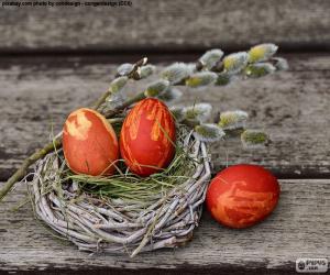 Puzle Velikonoční hnízdo