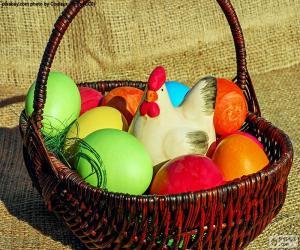 Puzle Velikonoční koš