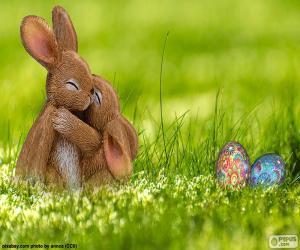 Puzle Velikonoční králíci v objetí