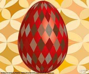 Puzle Velikonoční vajíčko s rhombus