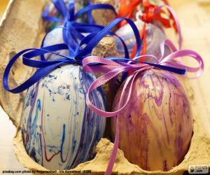 Puzle Velikonoční vejce krabičce