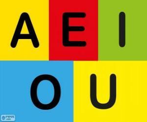 Puzle Velká písmena A, E, I, O, U