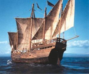 Puzle Velká pirátská loď