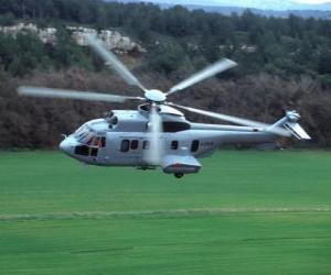 Puzle Velké Cougar vrtulník EC725
