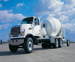 Puzle Velké truck mixer