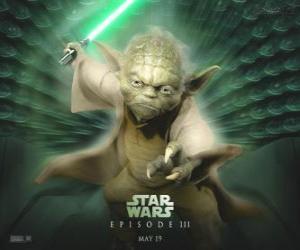 Puzle Velký mistr Yoda, mistr Jedi