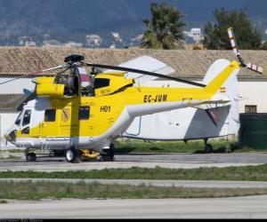 Puzle Velký vrtulník