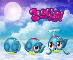 Puzle Velryba, Zoobles od Seagonia