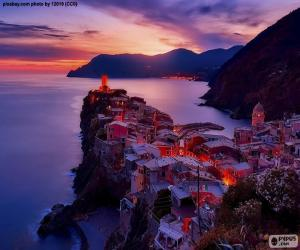 Puzle Vernazza, Itálie