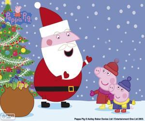 Puzle Veselé Vánoce Peppa