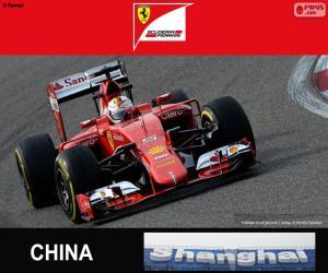 Puzle Vettel G.P Číny 2015