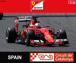 Puzle Vettel G.P Španělsko 2015