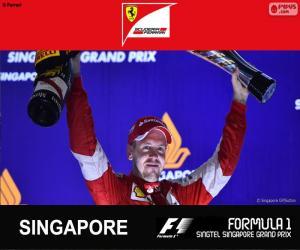 Puzle Vettel G.P Singapur 2015