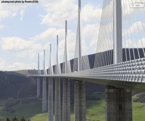 Puzle Viadukt Millau, Francie