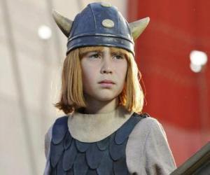 Puzle Vicky Viking s jeho helmu s rohy