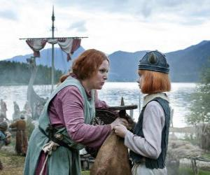 Puzle Vicky Viking s jeho matkou Ylva