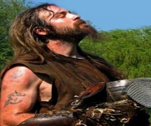 Puzle Viking tvář s knírkem a bradkou