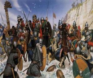 Puzle Vikingové boj
