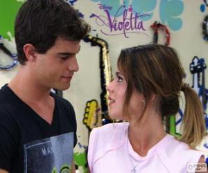 Puzle Violetta a Diego