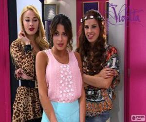 Puzle Violetta s Ludmilou a Camila
