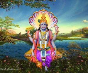 Puzle Vishnu, vesta bůh v Trimurti