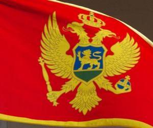 Puzle Vlajka Černé hory