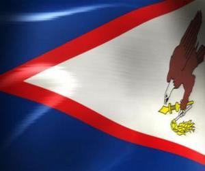 Puzle Vlajka Americká Samoa