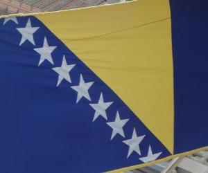 Puzle Vlajka Bosny a Hercegoviny