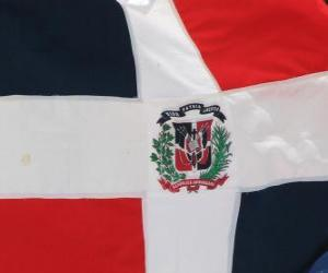 Puzle Vlajka Dominikánské republiky
