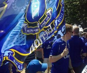 Puzle Vlajka Everton FC
