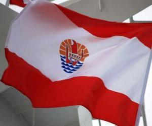 Puzle Vlajka Francouzské Polynésie