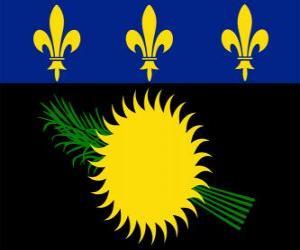 Puzle Vlajka Guadeloupe