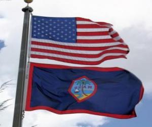 Puzle Vlajka Guamu