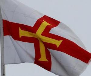 Puzle Vlajka Guernsey