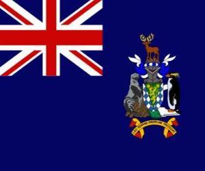 Puzle Vlajka Jižní Georgie a Jižní Sandwichovy ostrovy