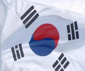 Puzle Vlajka Jižní Koreje