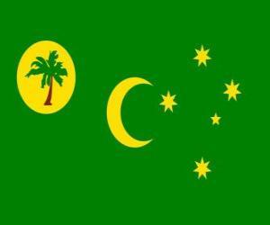 Puzle Vlajka kokosových ostrovů