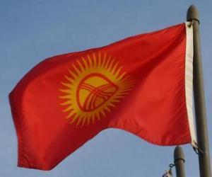 Puzle Vlajka Kyrgyzstánu