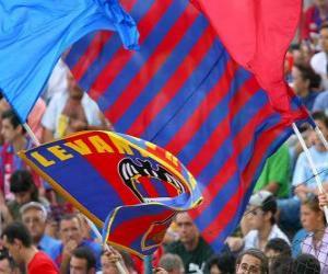 Puzle Vlajka Levante UD SAD