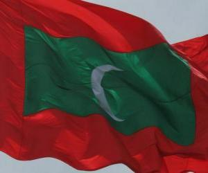 Puzle Vlajka Malediv