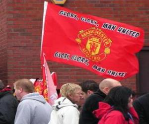 Puzle Vlajka Manchester United FC