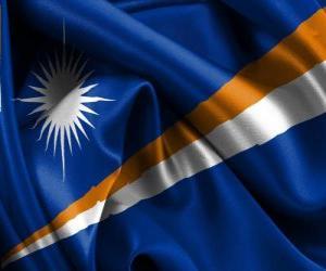 Puzle Vlajka Marshallovy ostrovy