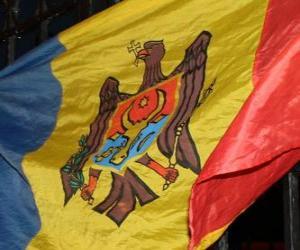 Puzle Vlajka Moldavské
