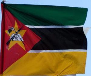 Puzle Vlajka Mosambiku