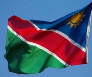 Puzle Vlajka Namibie
