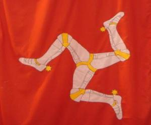 Puzle Vlajka ostrova Man