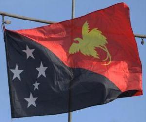 Puzle Vlajka Papuy-Nové Guineje