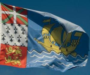 Puzle Vlajka Saint Pierre a Miquelon