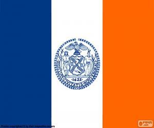 Puzle Vlajka státu New York